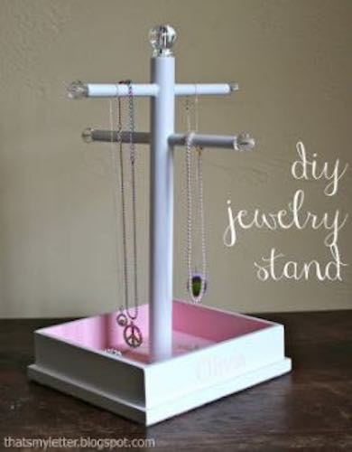 Build a Jewelry Stand By Jaime using free plans.