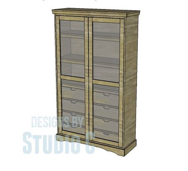 Free plans to build a Pantry Armoire.