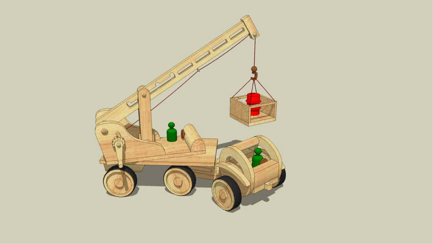 toys,cranes,wooden,free woodworking plans,free projects,do it yourself,childs,kids,childrens