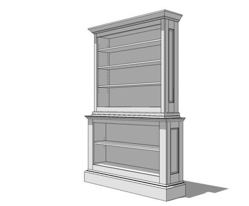 Free plans to build a bookcase.