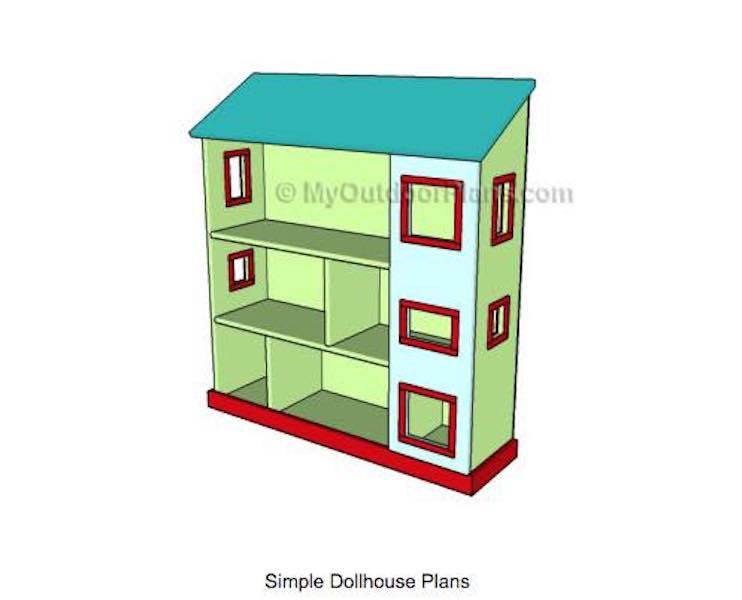 Build an Open Dollhouse using free plans.