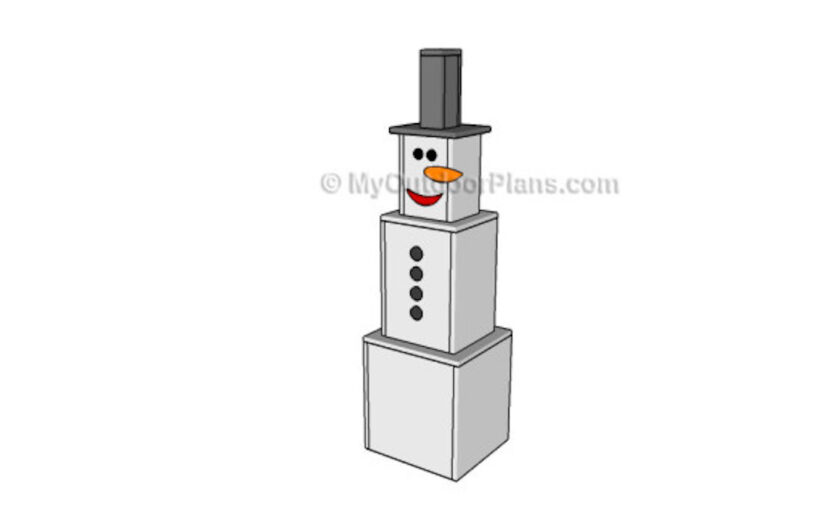 How to build a Snowman Yard Art free project