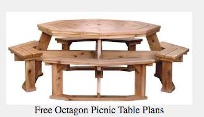 Free plans to build an Octagon Picnic Table.