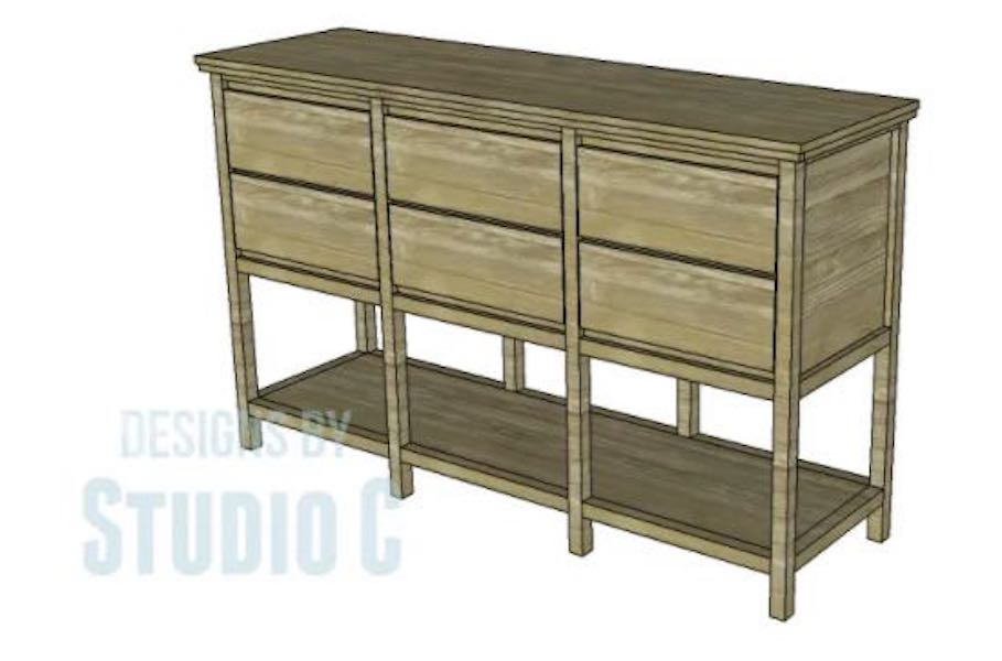 Build a Sideboard with 6 Drawers with free plans.