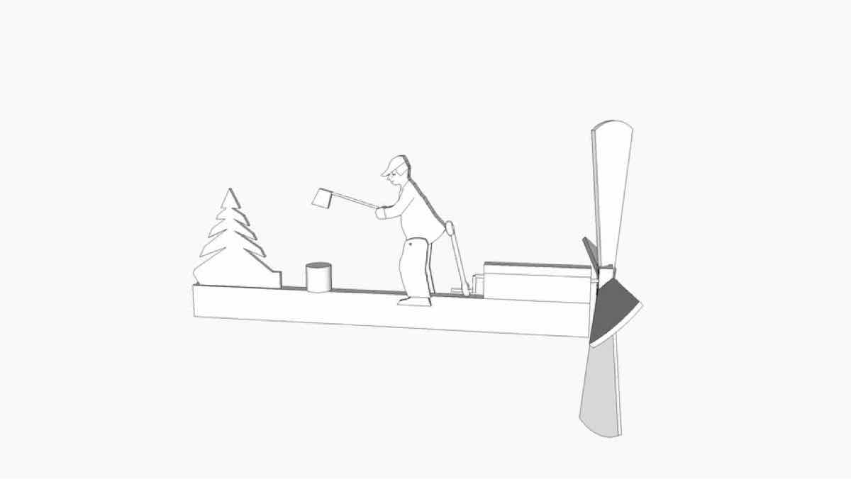 whirligigs,wood choppers,diy,free woodworking plans,free projects,do it yourself