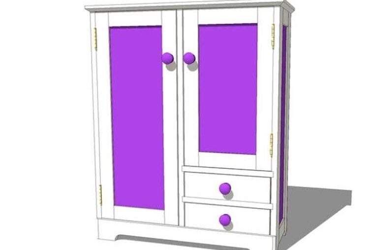 Doll Armoire SketchUp Plan