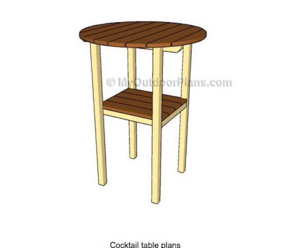 Free plans to build My Outdoor Cocktail Table.