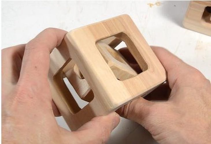 Free plans to build a Cube Within a Cube Puzzle.