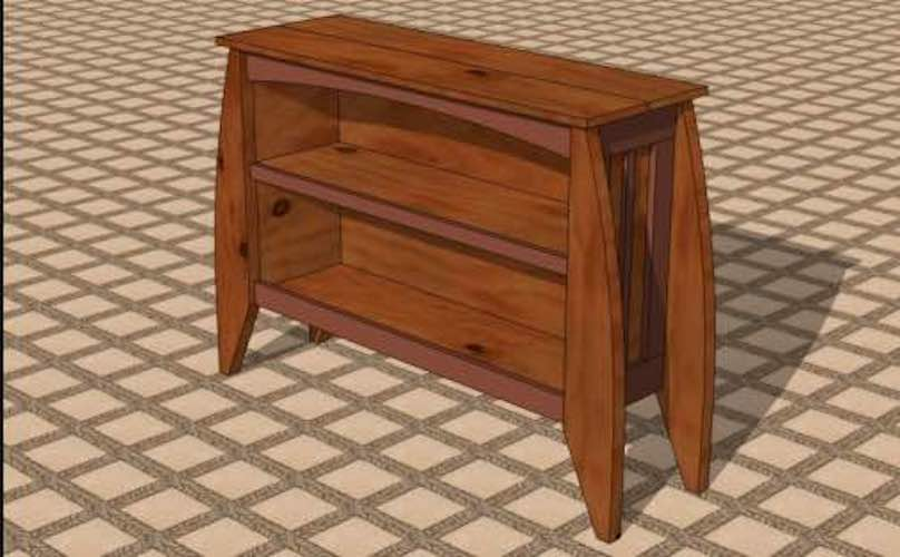 Free plans to build a Raised Bookcase.
