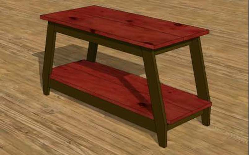 Build your own TV Stand using free woodworking plans.