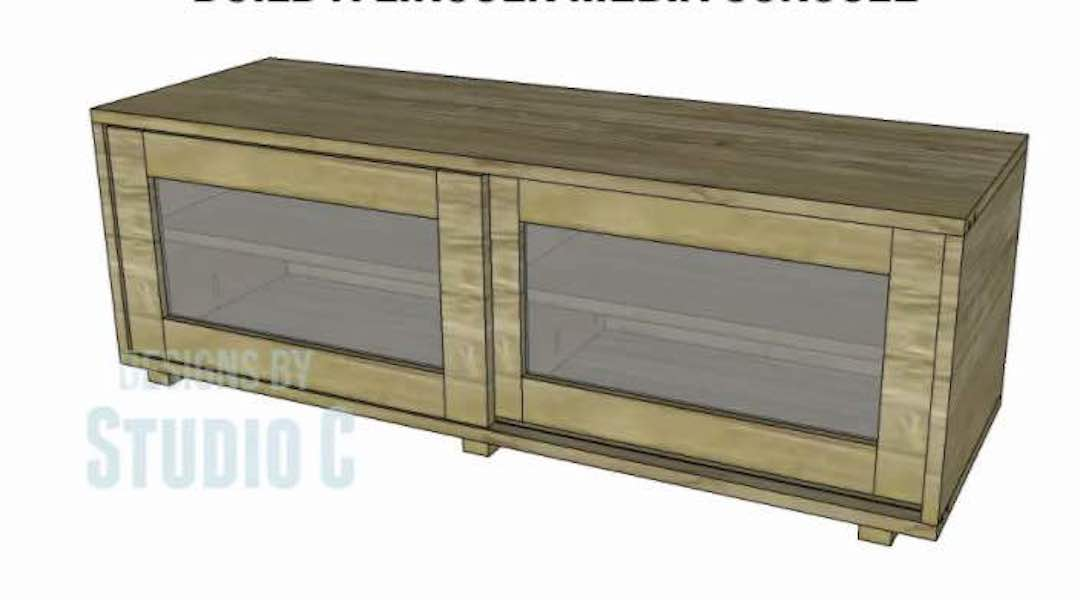 Free plans to build a Lincoln Media Console.