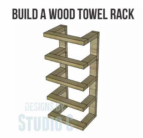 Build a wooden towel rack.