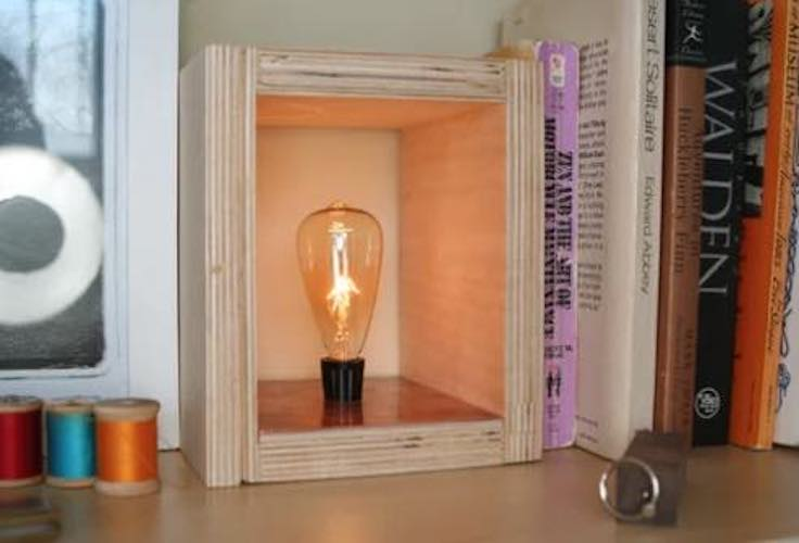 Free plans to build a Secret Compartment Plywood Lamp.