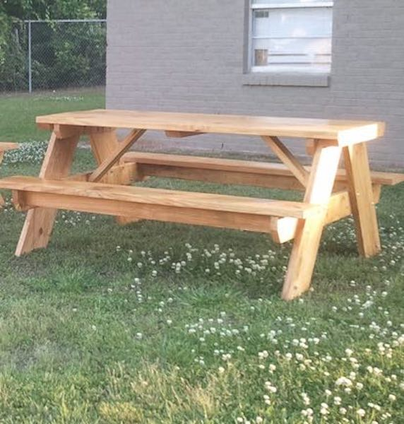 Build this 6 Foot Picnic Table by Jay.