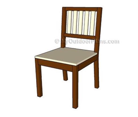 Free plans to build a Dining Chair.