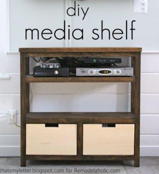 Build this Media Shelf using free plans.