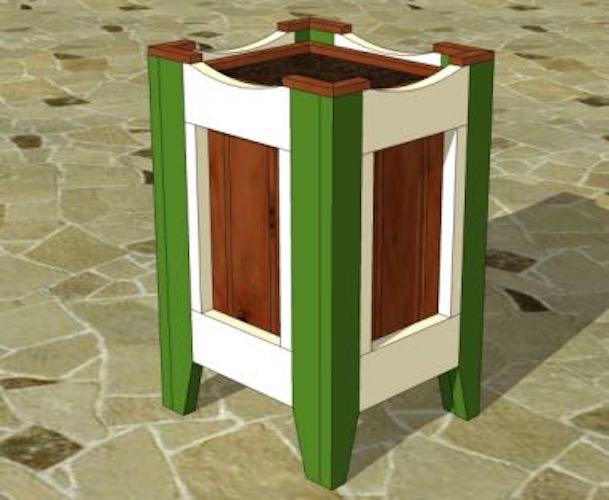 Free plans to build a Planter Box PDF.