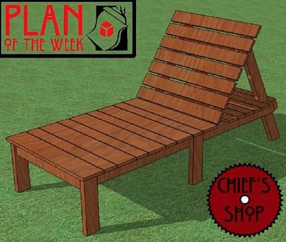 Free plans to build a Chief Sun Lounger.