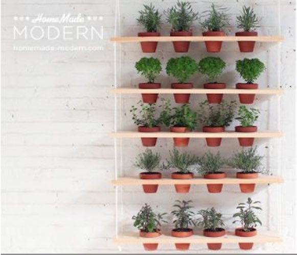 Free plans to build a simple Hanging Garden.