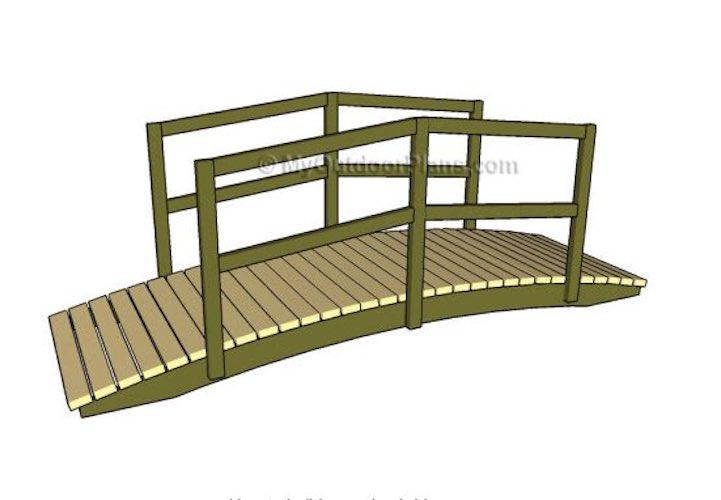 Free plans to build a My Outdoor Garden Bridge.