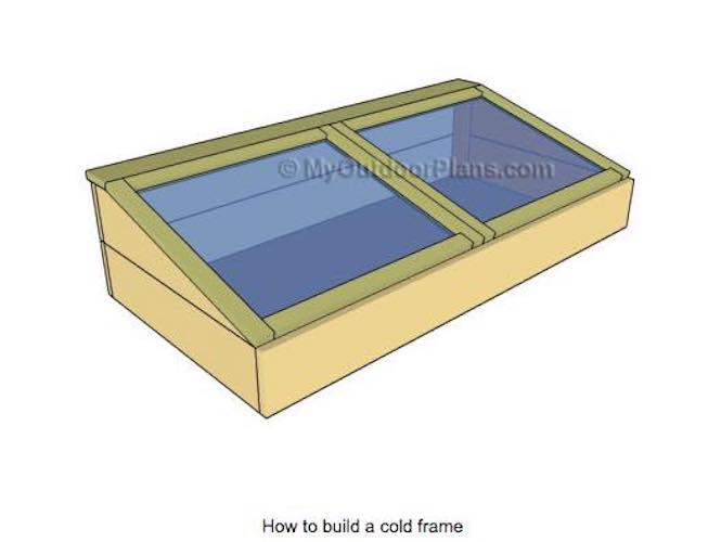 Free plans to build My Outdoor Cold Frame.