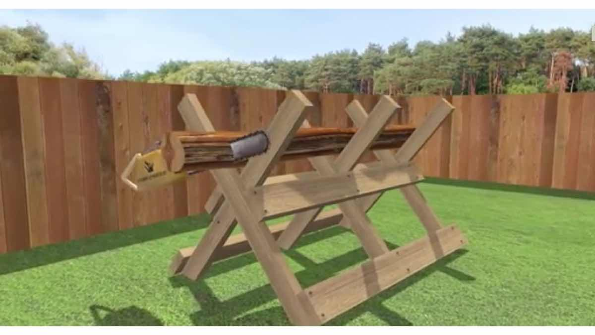 Sawbuck for firewood free woodworking plans