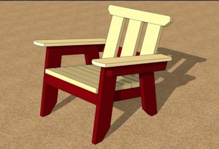 Free plans to build a Beach Resort Chair PDF.