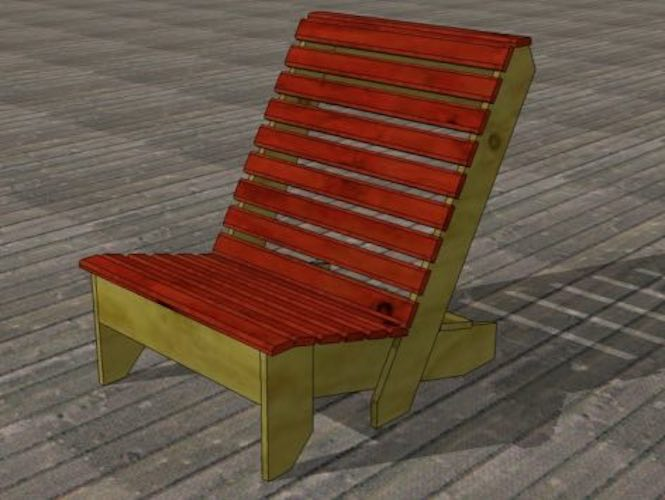Free plans to build your own Deck Chair.