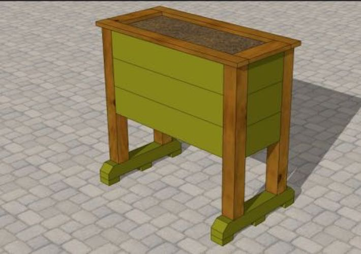Free plans to build a Planter Box Raised.