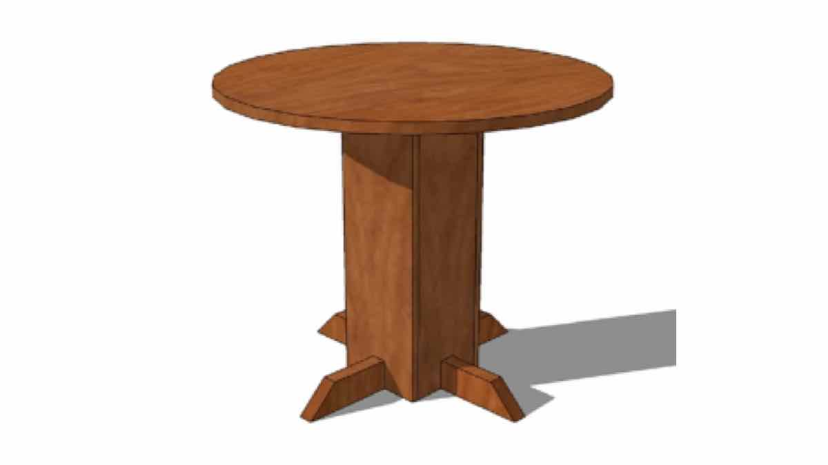 side tables,furniture,pedestal tabales,round,diy,free woodworking plans,free projects,do it yourself