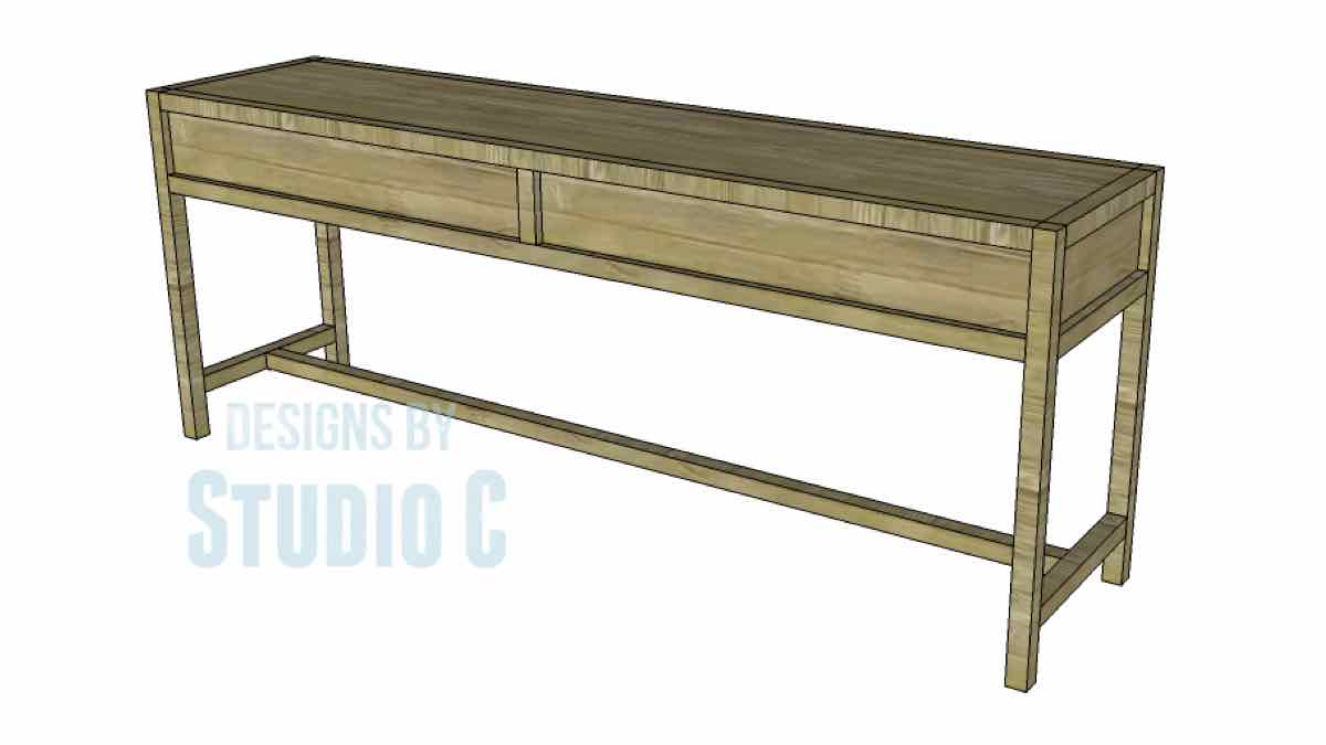 console tables,long tables,sofa tables,furniture,diy,free woodworking plans,free projects,do it yourself