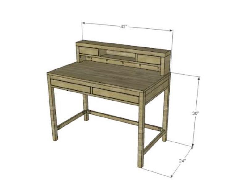 Free plans for an Easy-To-Build Desk.