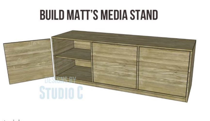 Free plans to build Matts Media Stand.