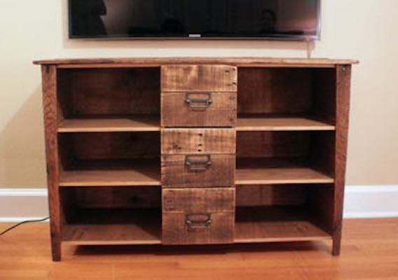 Free plans to build a Media Cabinet.
