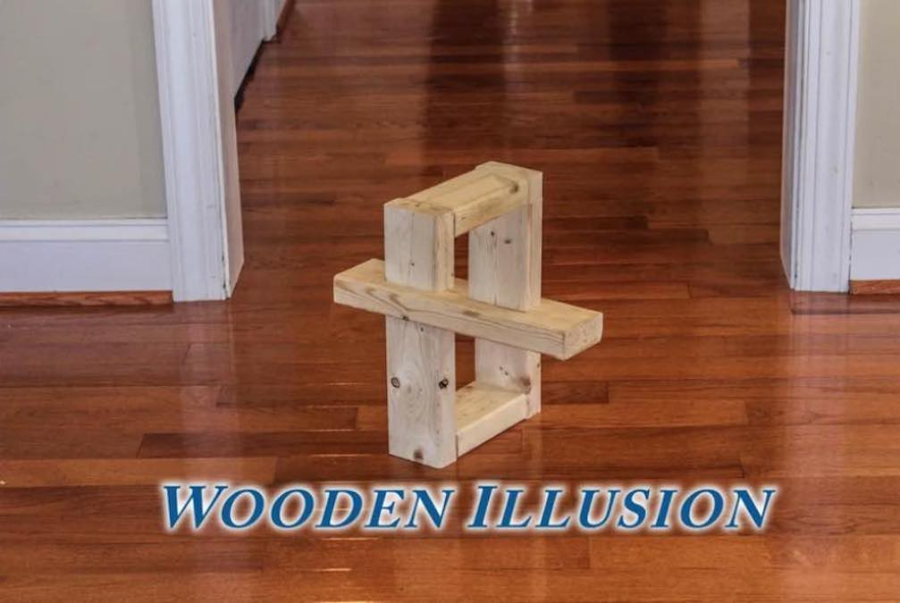 Free plans to build this Wooden Illusion.