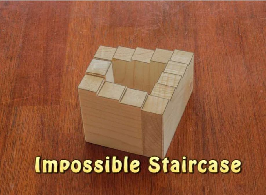 Learn how to build this Impossible Staircase Illusion.