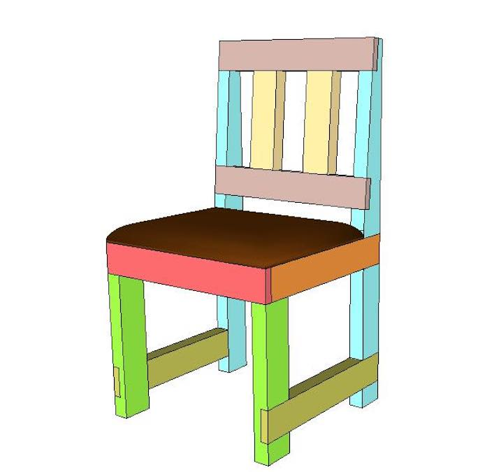 Build a Chair from 2x4s using free plans.