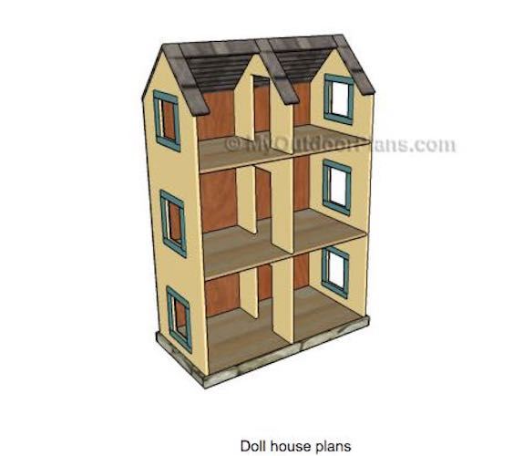 Doll House With Open Back