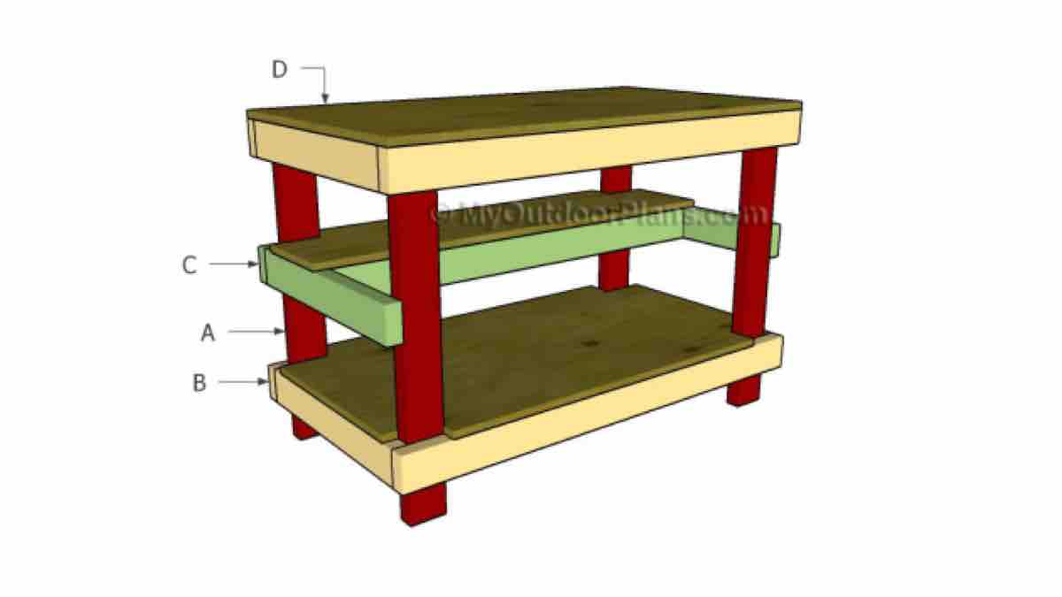 How to build a Worktable with free roject plans.