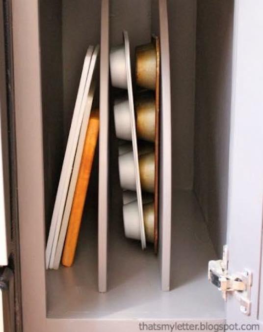 Free plans to build Pan Cabinet Storage.