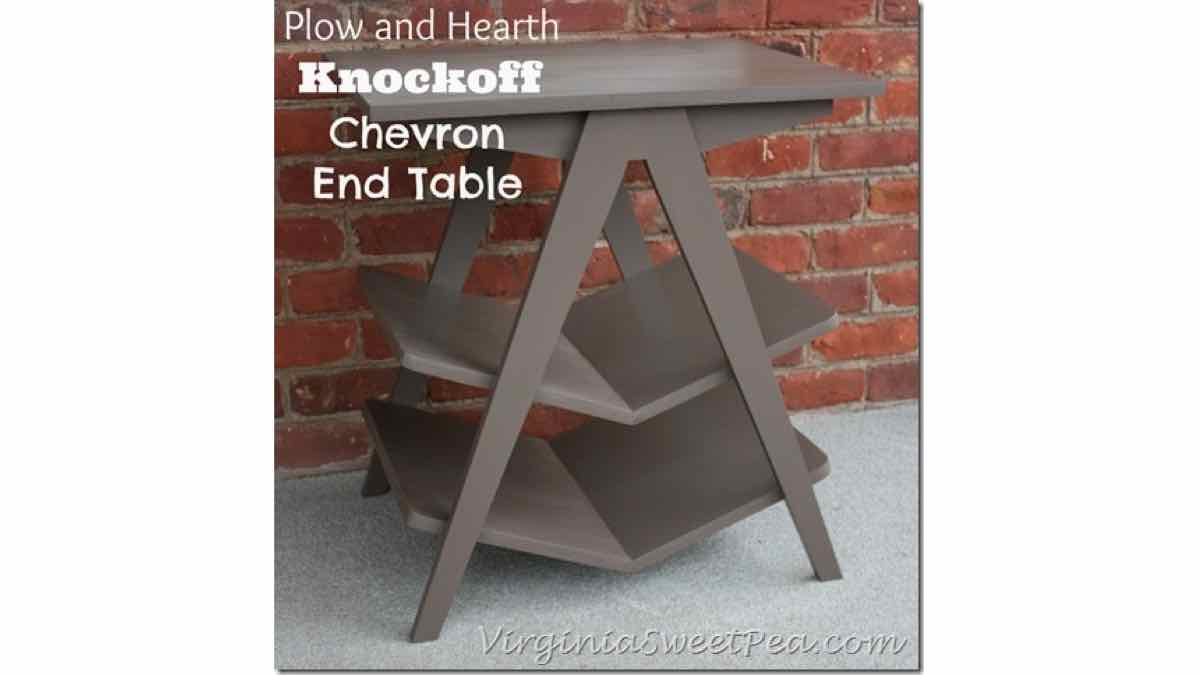 end tables,furniture,chevron,diy,free woodworking plans,free projects,do it yourself