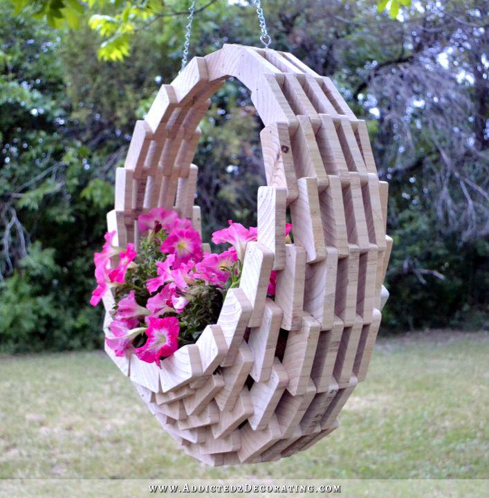 Build a hanging planter basket.