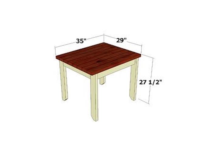 Free plans to build a Patio Side Table.