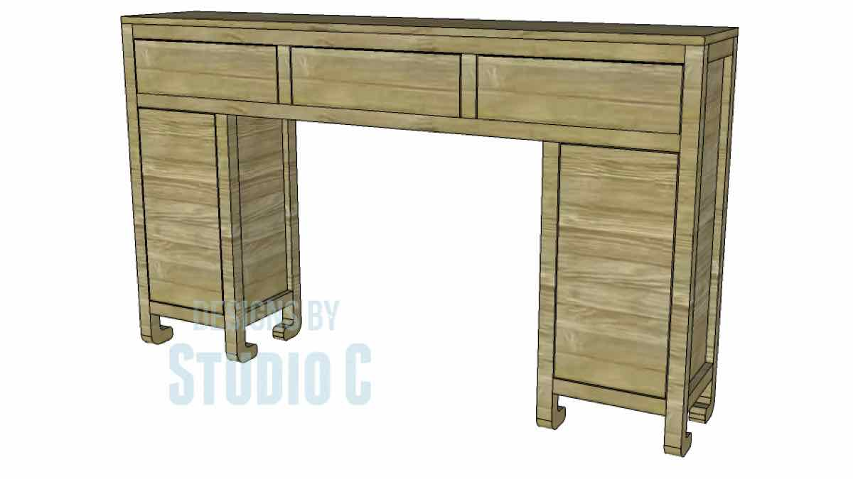 consoles,tables,furniture,diy,free woodworking plans,free projects,do it yourself