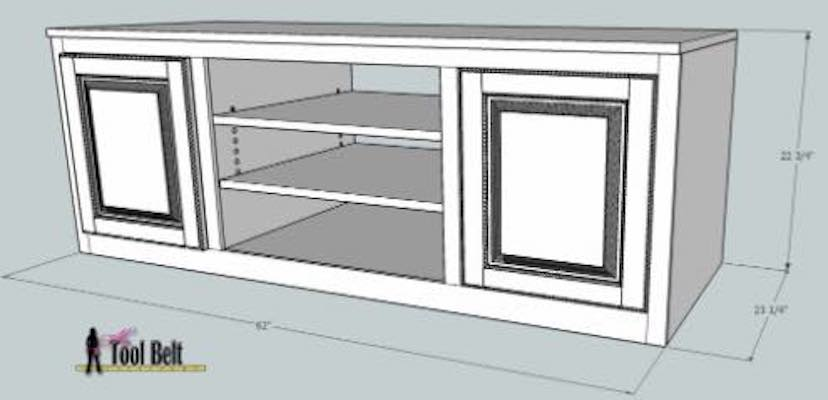 Free plans to build a Media Console.