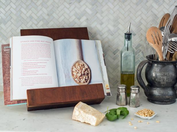 How to build a wooden cookbook stand.