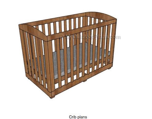Build a Wooden Crib using free woodworking plans.