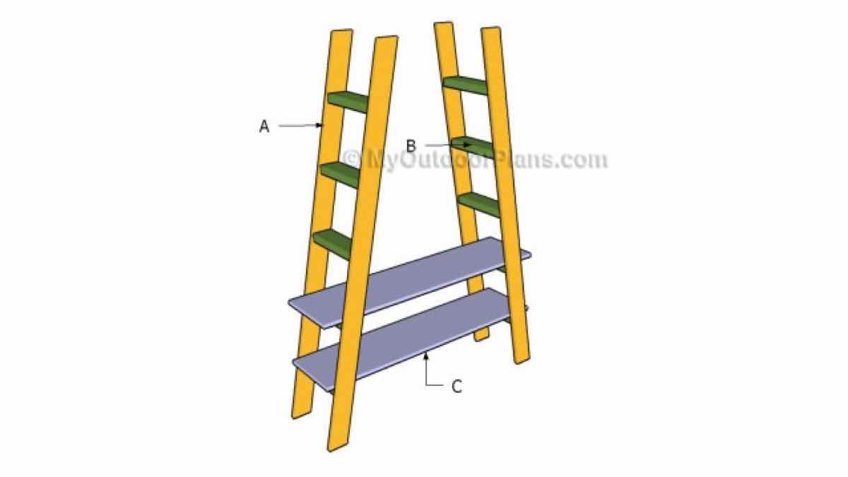 ladder shelves,furniture,diy,free woodworking plans,free projects,do it yourself