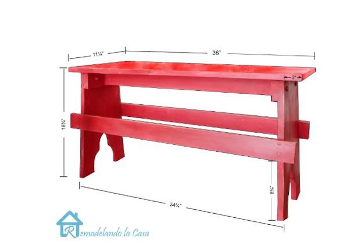 Free instructions to build a simple Bench.