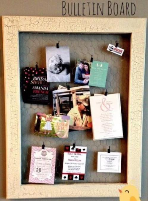 Build a Chicken Wire Bulletin Board with free plans.
